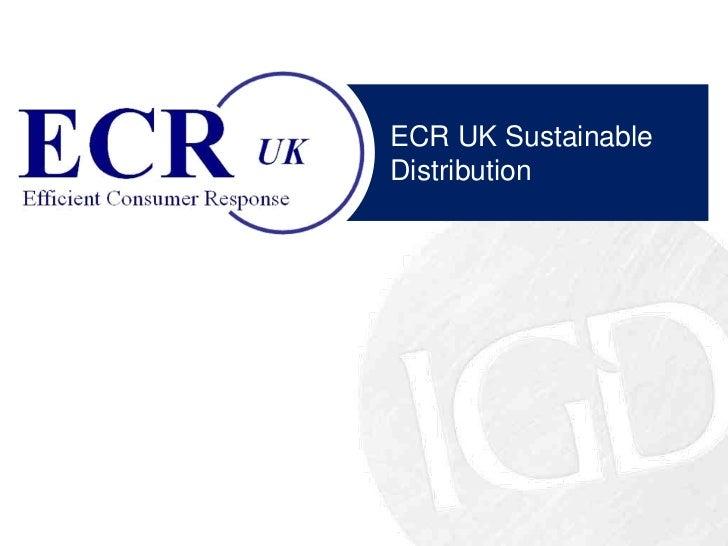 ECR UK Sustainable Distribution
