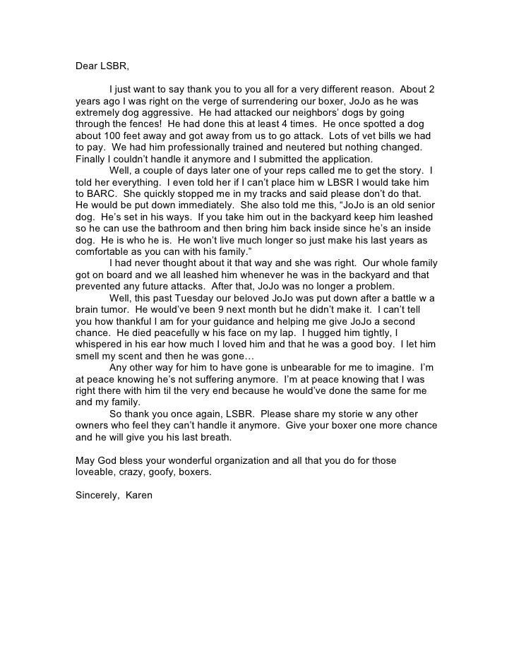 Karen G Letter