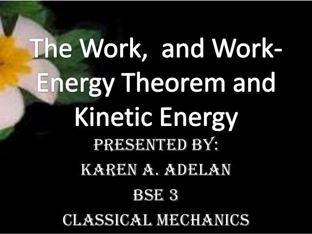 work energy theorem and kinetic energy