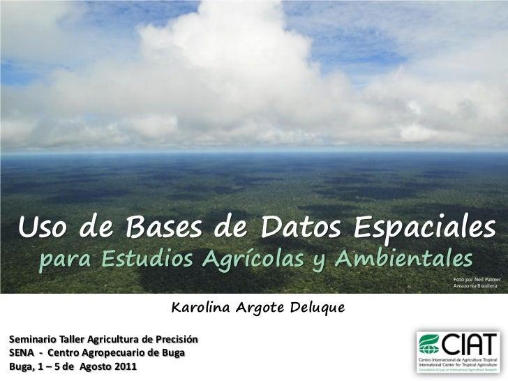 Karolina Argote - Uso de Bases de Datos Espaciales