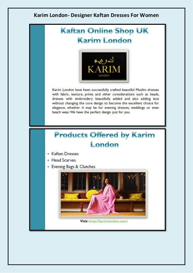 Karim London- Designer Kaftan Dresses For Women