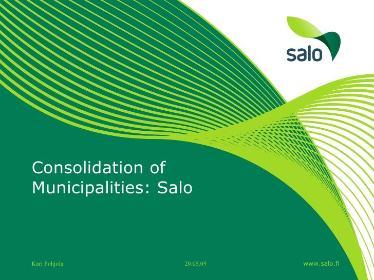 Consolidation of Municipalities: Salo