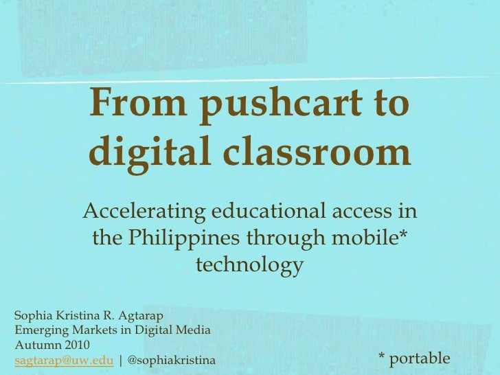 From Pushcart to Classroom: Accelerating educational access in the Philippines through mobile technology