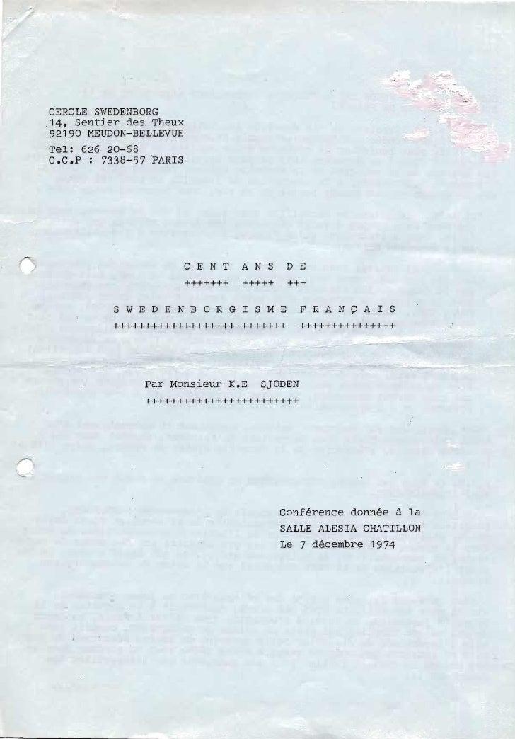 Karl eric-sjödén-cent-ans-de-swedenborgisme-français-1974