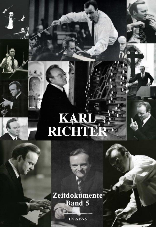 Zeitdokumente Band 5 1972-1976 KARL RICHTER