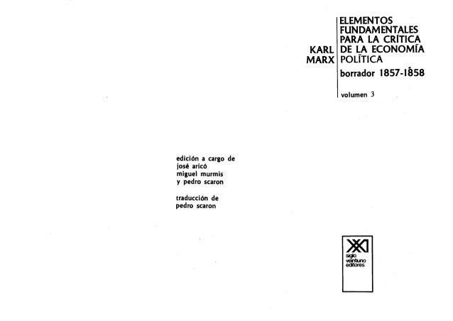 Karl marx grundrisse iii