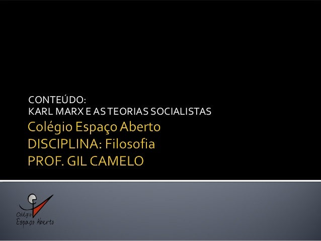 Karl max e as teorias socialistas