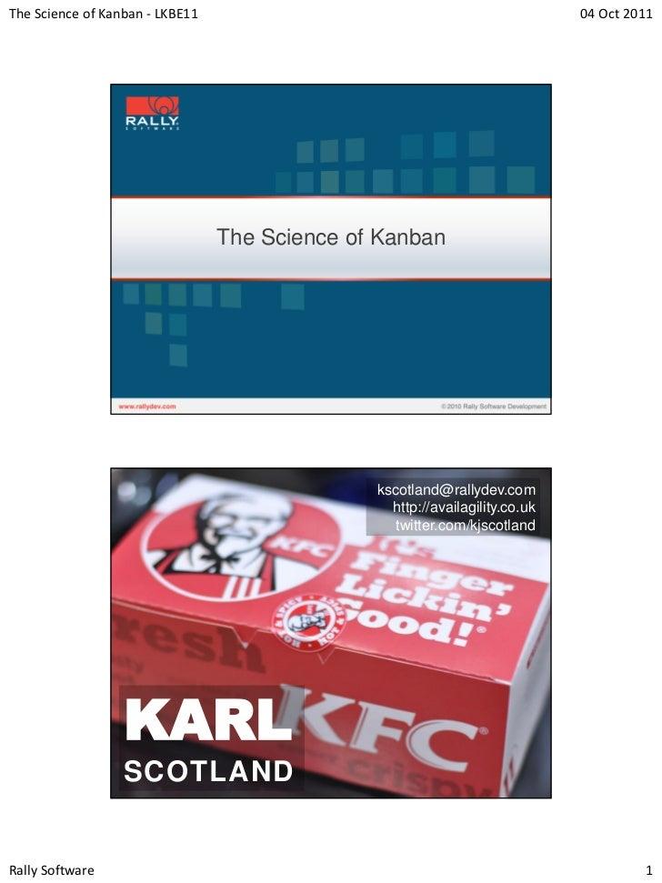 Karl scotland   science of kanban