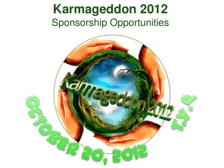 Karmageddon 2012 sponsorship opportunity main event