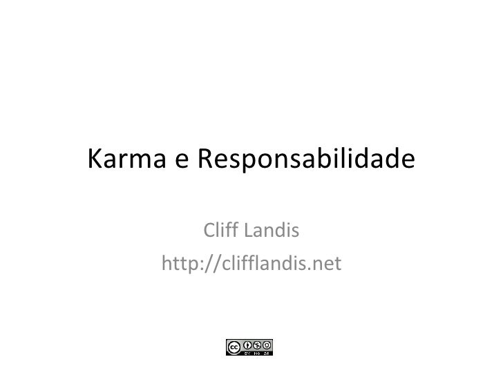 Karma e Responsabilidade