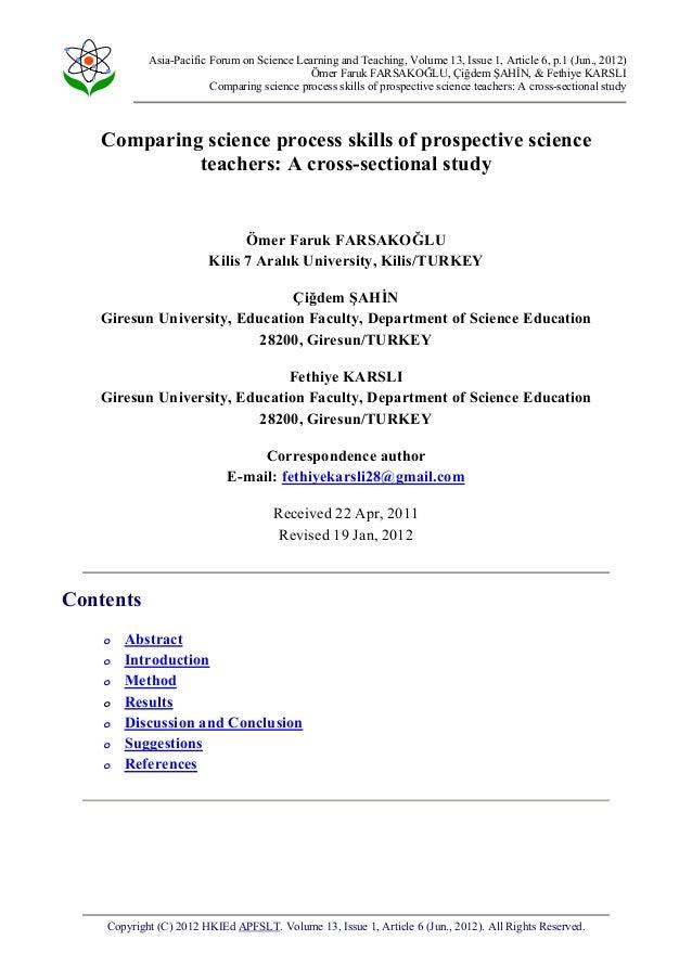 Asia-Pacific Forum on Science Learning and Teaching, Volume 13, Issue 1, Article 6, p.1 (Jun., 2012) Ömer Faruk FARSAKOĞLU...