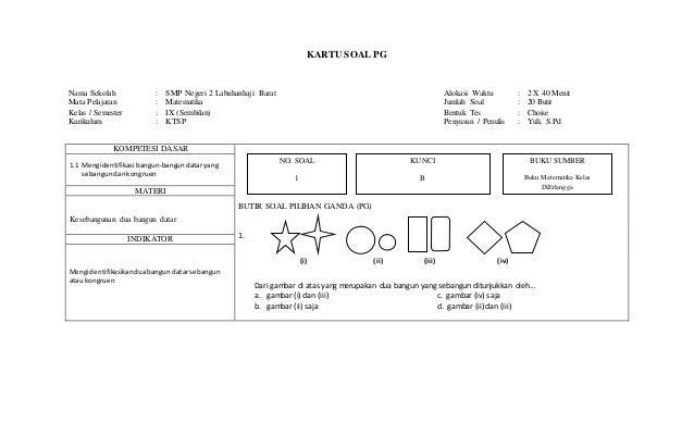 Soal Matematika Semester I Kelas Ix Newhairstylesformen2014 Com