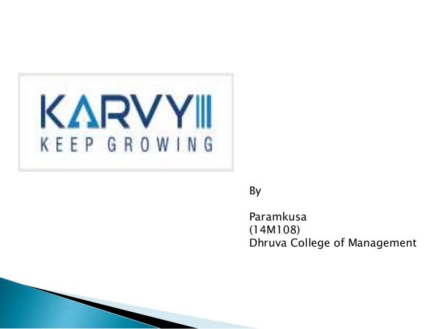 project report on karvy stock broking ltd 220 reviews from karvy stock broking ltd employees about karvy stock broking ltd culture, salaries, benefits, work-life balance, management, job security, and more.