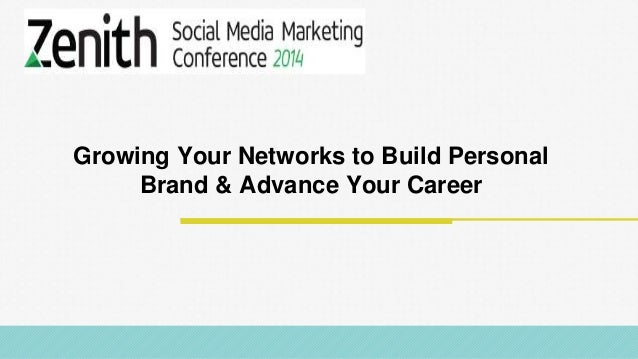 @RobKarwath @SocialMichelleR Growing Your Networks to Build Personal Brand & Advance Your Career