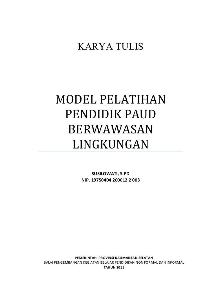 Karya tulis model pelatihan tutor paud unt jambore ptk paudni 2011