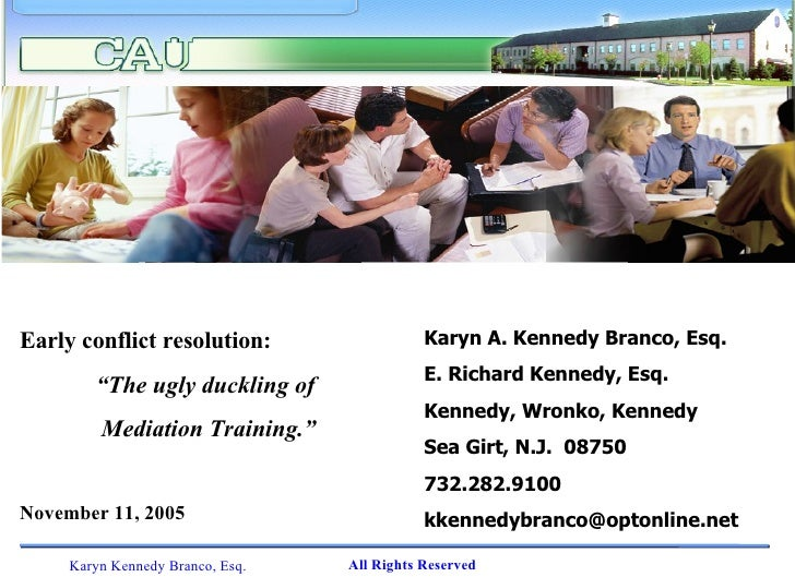 Karyn Branco Early Conflict Resolution