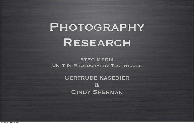 Kasebier Sherman photography slideshow