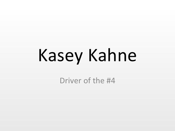 Kasey Kahne Driver of the #4