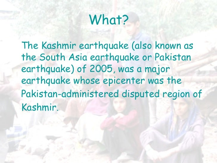 descriptive narrative essay about earthquake