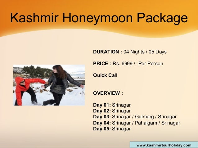 Package Kashmir Kashmir Honeymoon Package