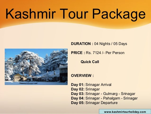 Package Kashmir Kashmir Tour Package