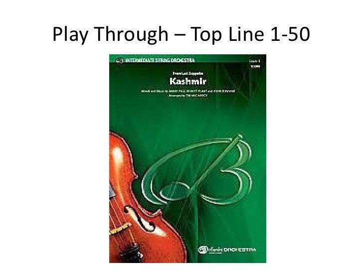 Play Through – Top Line 1-50<br />