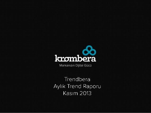 Kasım 2013 Trend Raporu