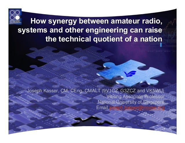 How synergy between amateur radio,systems and other engineering can raise       the technical quotient of a nation  Joseph...