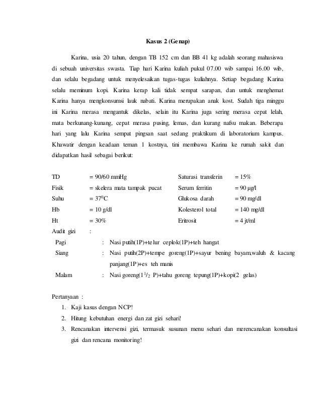 tatalaksana Gizi Penyakit anemia (NCP)