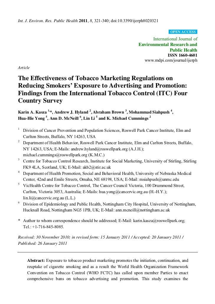 Int. J. Environ. Res. Public Health 2011, 8, 321-340; doi:10.3390/ijerph8020321                                           ...