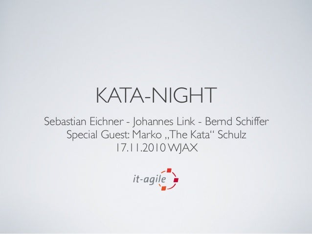 "KATA-NIGHT Sebastian Eichner - Johannes Link - Bernd Schiffer Special Guest: Marko ""The Kata"" Schulz 17.11.2010 WJAX"