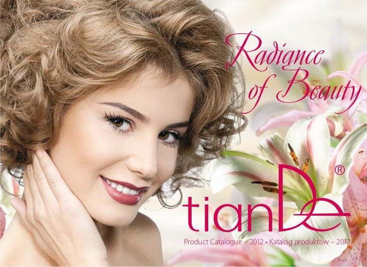 Radiance              of BeautyProduct Catalogue – 2012 • Katalog produktów – 2012