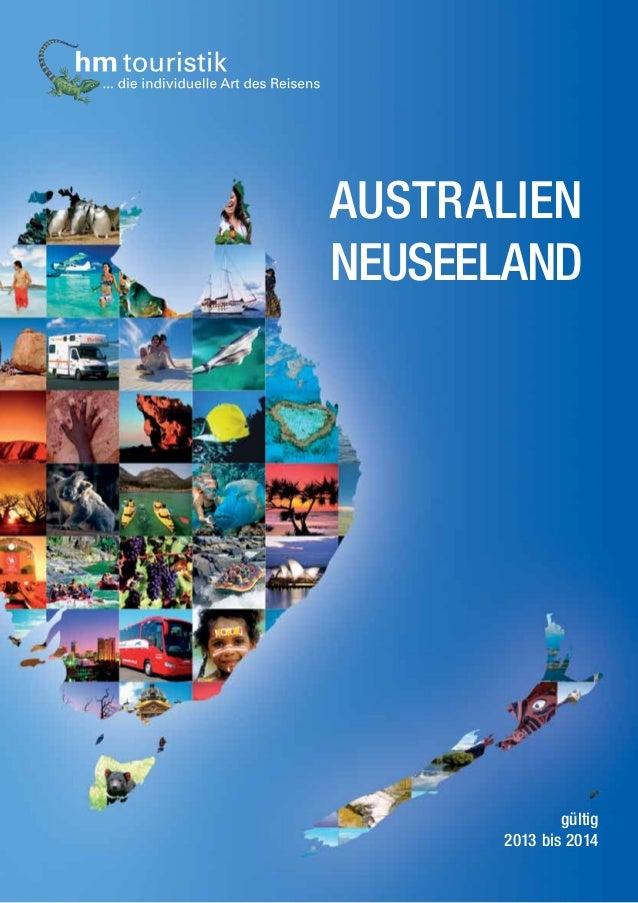 Reisekatalog hm touristik – Australien und Neuseeland