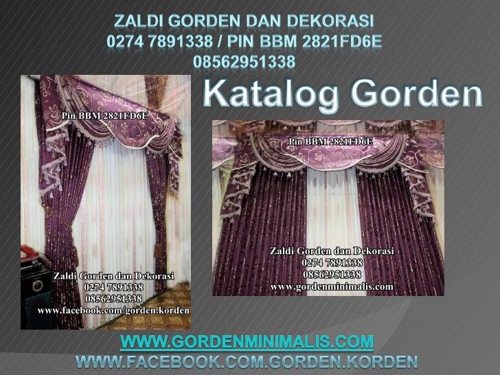 Katalog model gorden