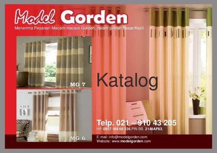 Menerima Pesanan Macam-macam Gorden, dalam jumlah Besar/Kecil                                      Katalog                ...