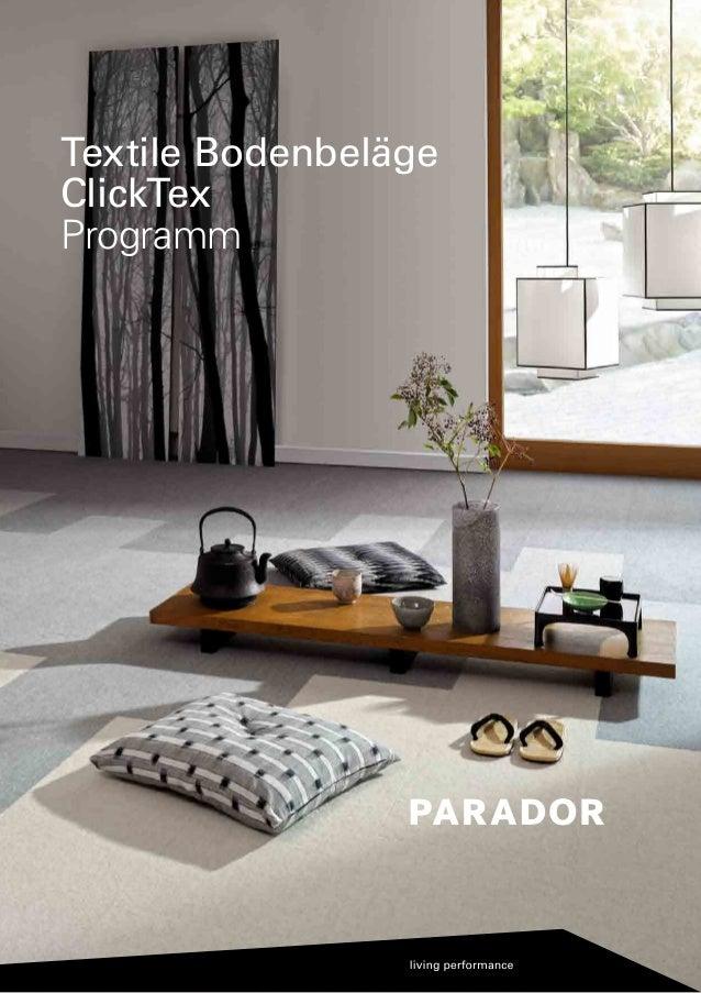 Textile Bodenbeläge ClickTex Programm