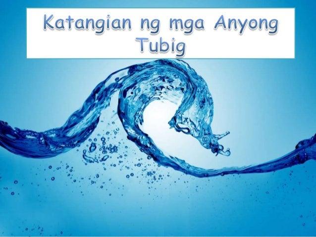 Katangian ng mga anyong tubig (araling panlipunan)