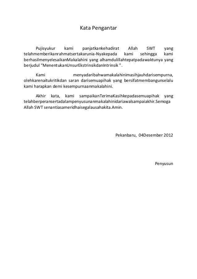 Contoh Kata Pengantar Kliping Bahasa Indonesia Contoh Si