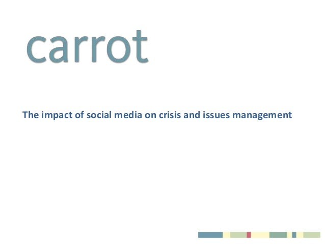 The impact of social media on communications and news