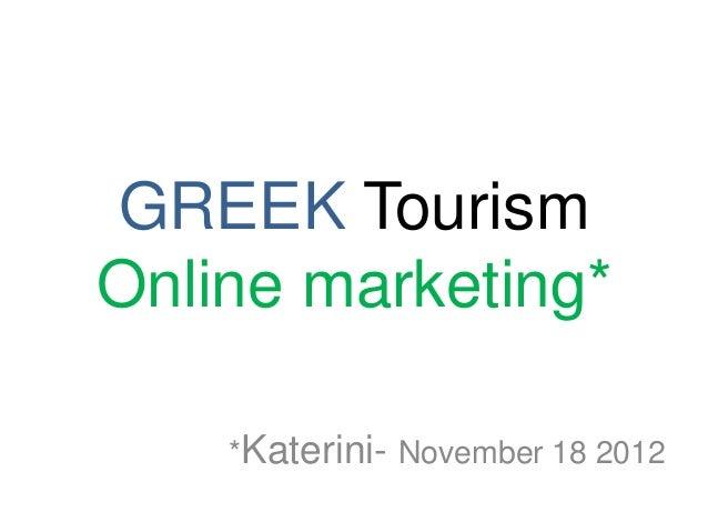 Katerini Social Media in Greek Tourism