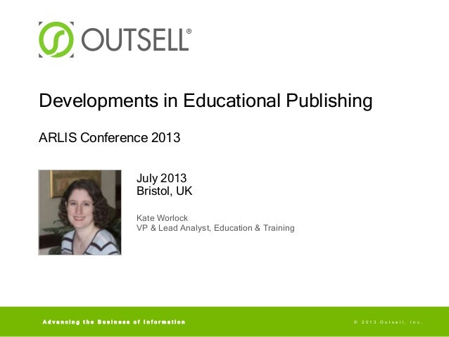 Kate Worlock: Developments in Educational Publishing