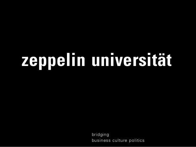 zeppelin universitätbridgingbusiness culture politics