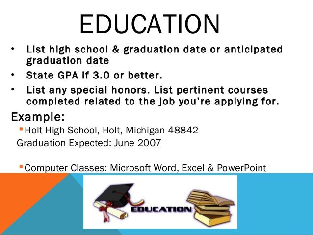 Expected graduation date