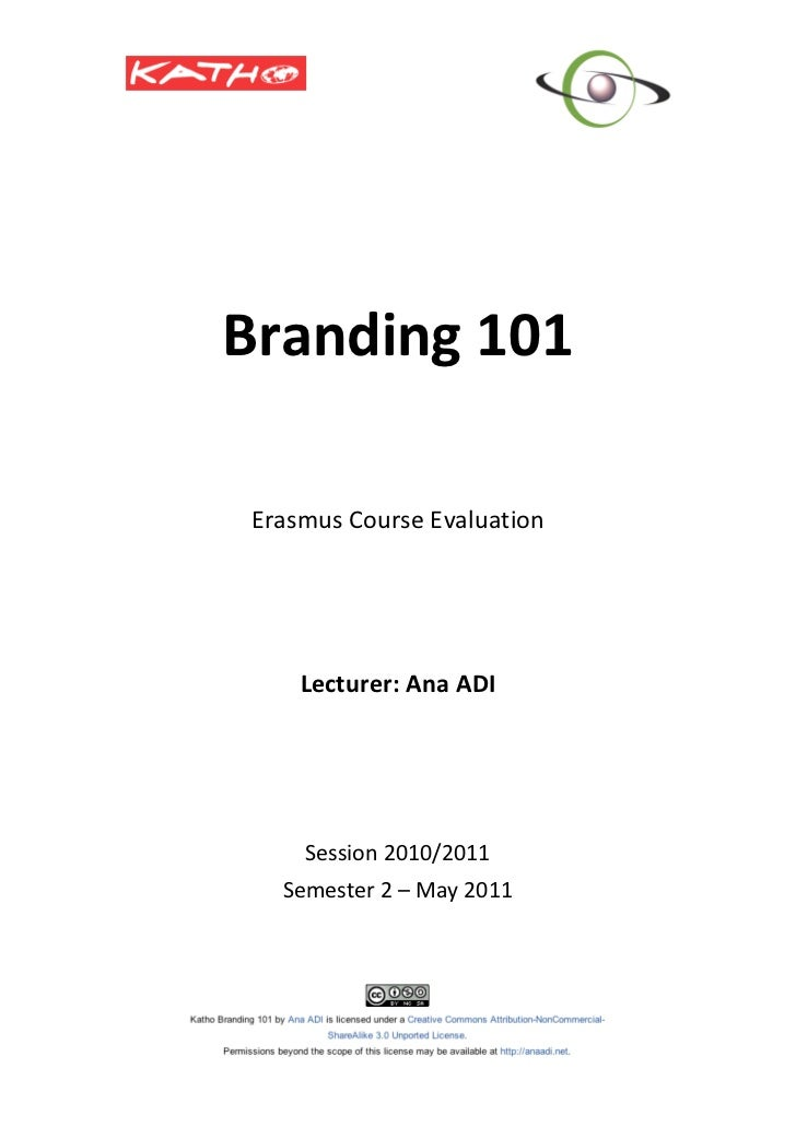 Katho Branding course evaluation May11