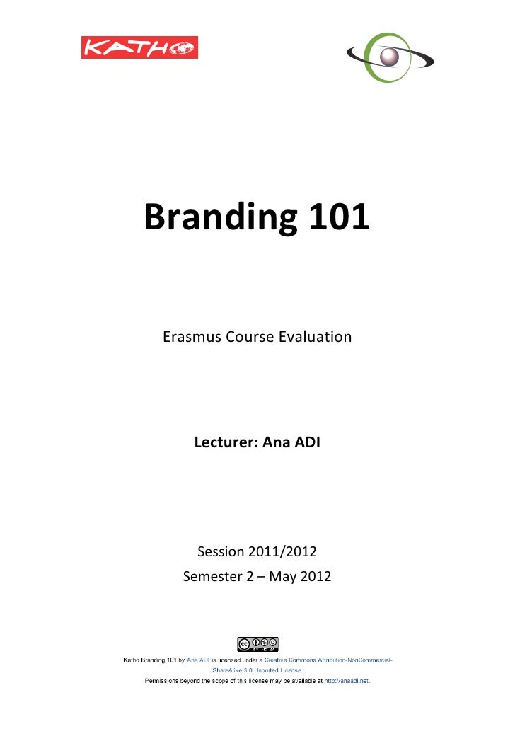 Katho Branding Course Evaluation_May 2012