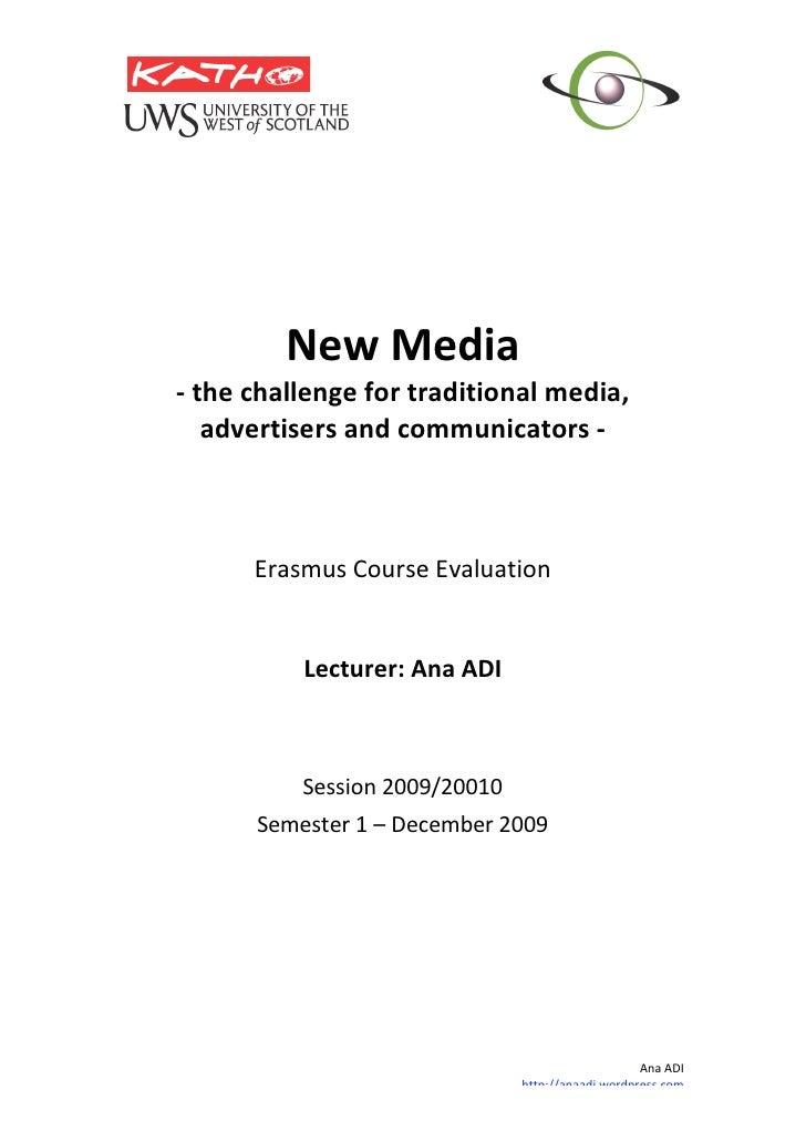 Katho New Media Course Evaluation Dec09