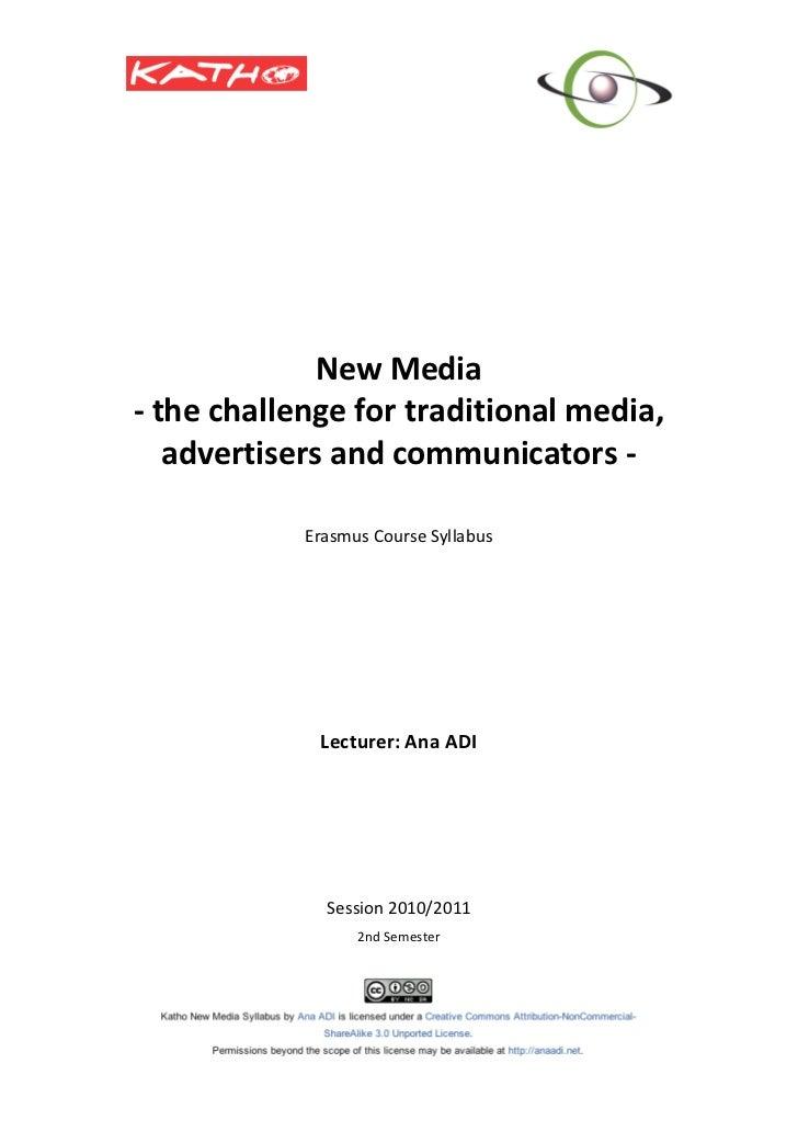 Katho New Media syllabus May 2011