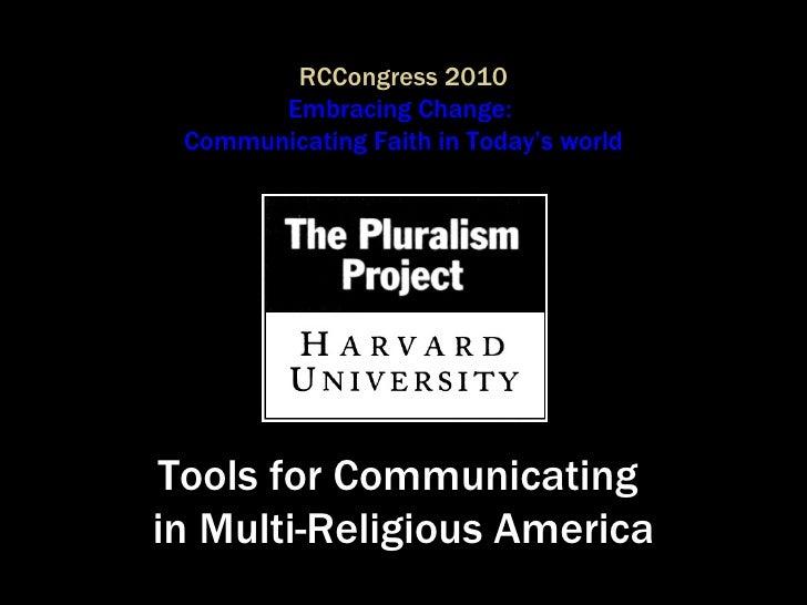 Tools for Communicating in Multi-Religious America