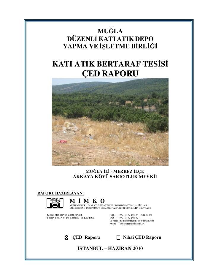 Katı Atık Bertaraf Çetelesi - Raporu