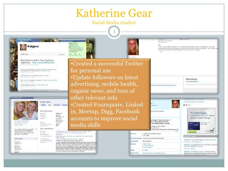 New and improved Katie gear social media portfolio